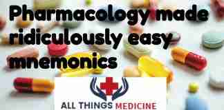 pharmacology made ridiculously easy mnemonics