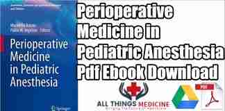 perioperative medicine in pediatric anesthesia