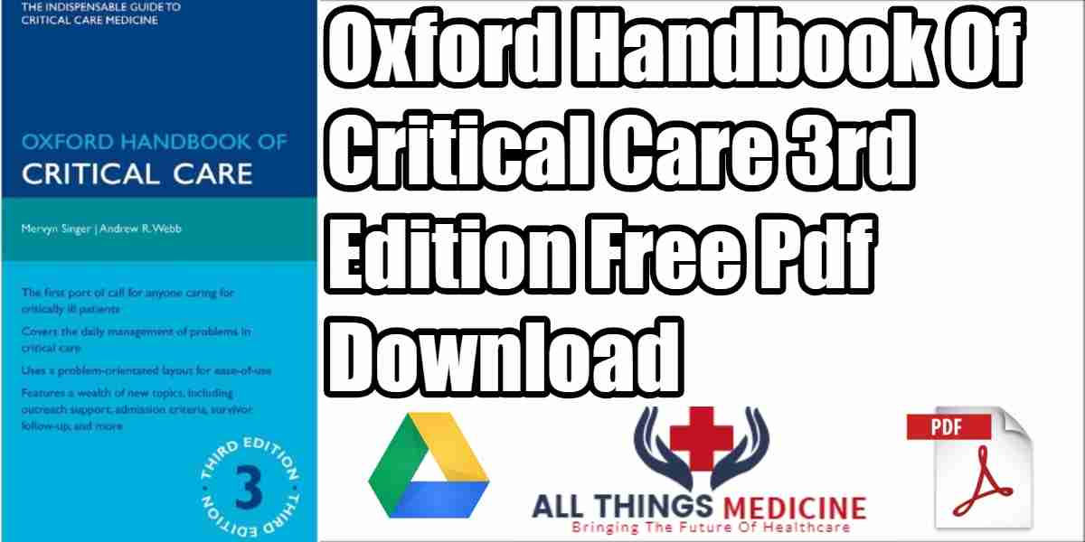 Oxford Handbook Of Critical Care PDF 3rd Edition Free Download